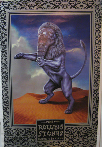The Rolling Stones Bridges To Babylon Poster