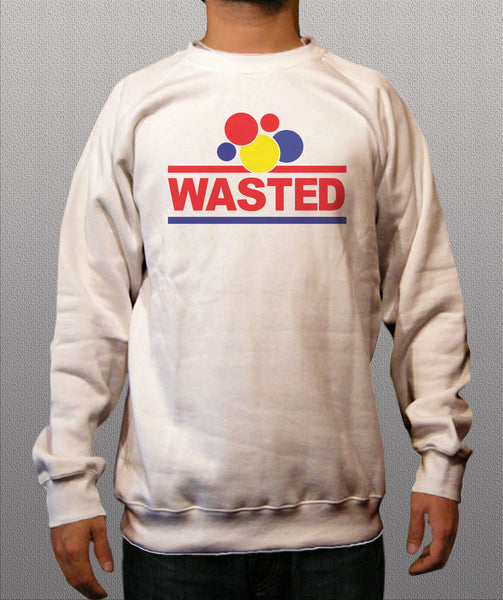 Wasted White Crewneck Sweatshirt - TshirtNow.net - 1