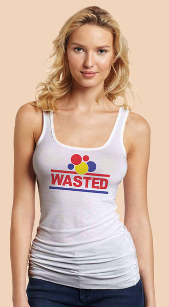 Wasted White Tanktop T-shirt for Women - TshirtNow.net - 1