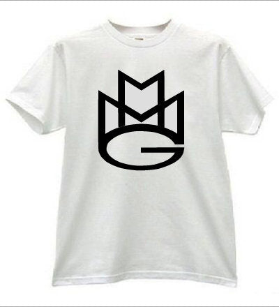 Maybach Music Group Tshirt:White with Black Print