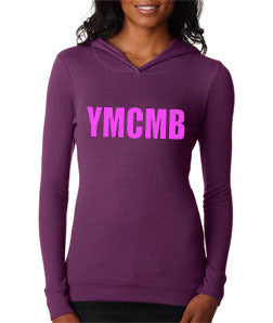 Womens Young Money YMCMB Soft Thermal Hoodie With Pink Print - TshirtNow.net - 1
