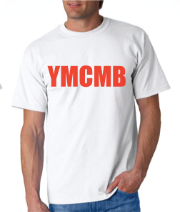 Ymcmb Tshirt: White With Red Print - TshirtNow.net