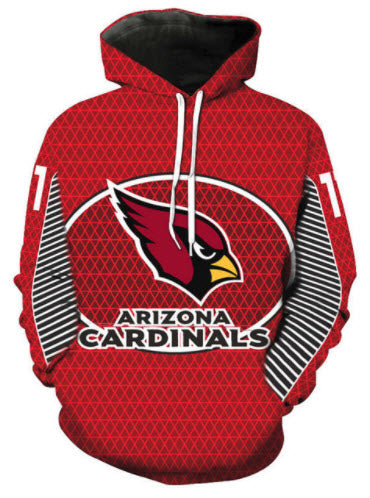 Arizona Cardinals Allover 3D Print Hoodie