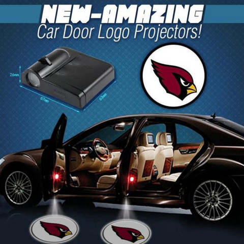 2 NFL ARIZONA CARDINALS WIRELESS LED CAR DOOR PROJECTORS