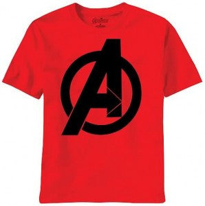 The Avengers Logo Tshirt Red tshirt Black large logo - TshirtNow.net