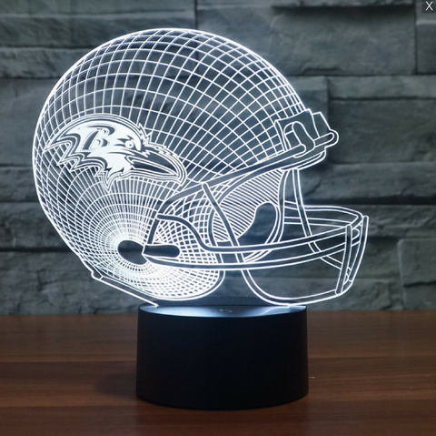 NFL BALTIMORE RAVENS 3D LED LIGHT LAMP e3e793ed7