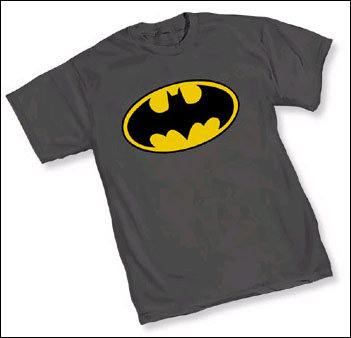 Batman Logo Heather Grey Tshirt