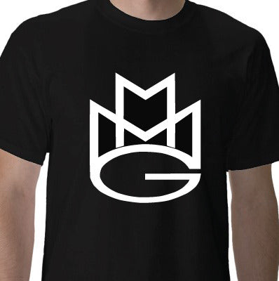 Maybach Music Group Tshirt: Black with White Print