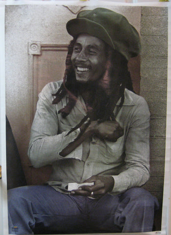 Bob Marley Rolling Joint Poster