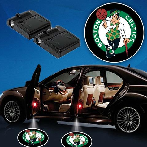 2 NBA BOSTON CELTICS WIRELESS LED CAR DOOR PROJECTORS