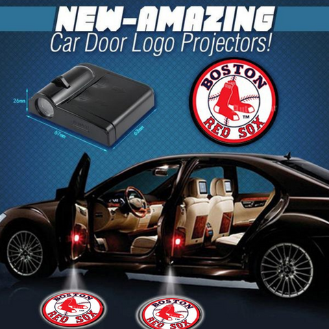 2 MLB BOSTON RED SOX WIRELESS LED CAR DOOR PROJECTORS