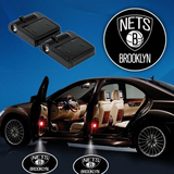 2 NBA BROOKLYN NETS WIRELESS LED CAR DOOR PROJECTORS