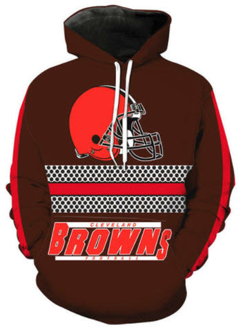 Cleveland Browns Allover 3D Print Hoodie