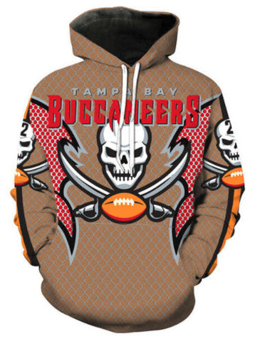 Buccaneers Skull Cross Allover 3D Print Hoodie