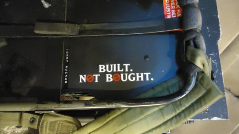Built Not Bought - Die Cut Decal - Sticker - GhostBusters NH