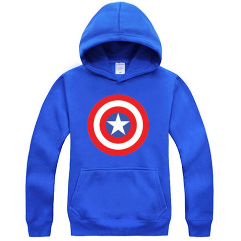 Captain America Shield Logo Royal Blue Hoodie Sweatshirt