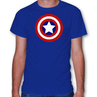 Captain America Shield Logo Royal Blue Tshirt - TshirtNow.net