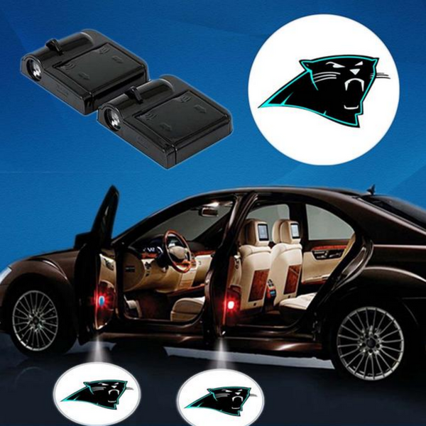 2 NFL CAROLINA PANTHERS WIRELESS LED CAR DOOR PROJECTORS