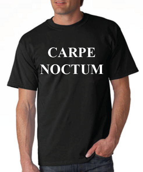 Carpe Noctum Tshirt: Black With White Print - TshirtNow.net