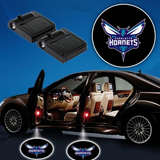 2 NBA CHARLOTTE HORNETS WIRELESS LED CAR DOOR PROJECTORS