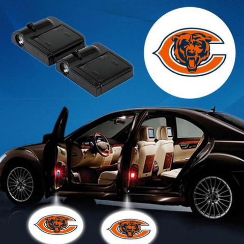 2 NFL CHICAGO BEARS WIRELESS LED CAR DOOR PROJECTORS
