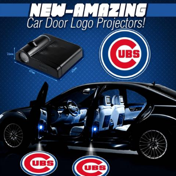 2 MLB Chicago Cubs Wireless LED Car Door Projectors