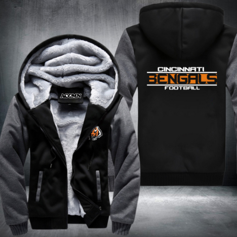 NFL CINCINNATI BENGALS THICK FLEECE JACKET