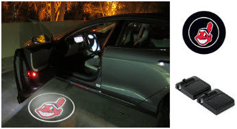 2 MLB Cleveland Indians Wireless LED Car Door Projectors