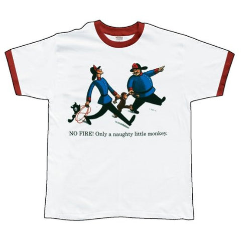Curious George Fireman Red Ringer Tshirt