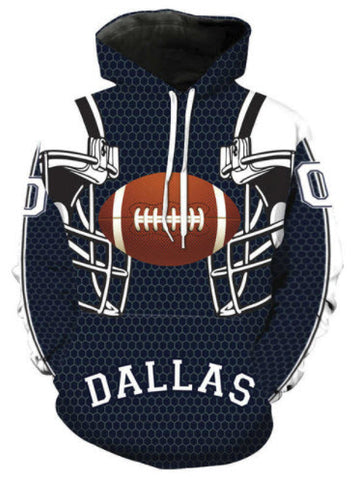 Dallas Cowboys Football Allover 3D Print Hoodie