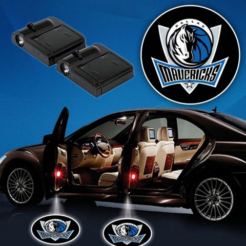 2 NBA DALLAS MAVERICKS WIRELESS LED CAR DOOR PROJECTORS