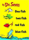 Dr. Seuss One Fish, Two Fish, Red Fish, Blue Fish Tshirt: White Tshirt - TshirtNow.net - 1