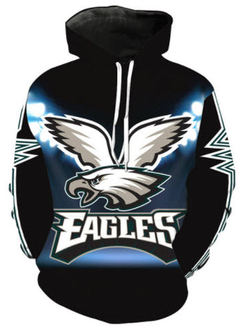 Philadelphia Eagles Lights Logo Allover 3D Print Hoodie