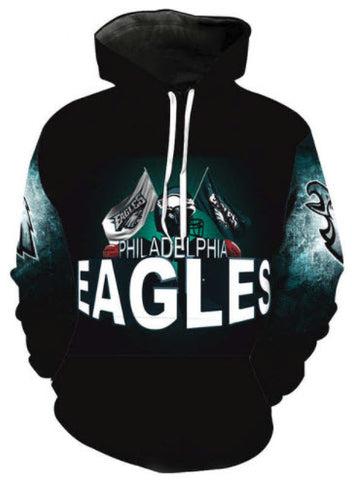 Philadelphia Eagles Flag Logo Allover 3D Print Hoodie 1253ccd74