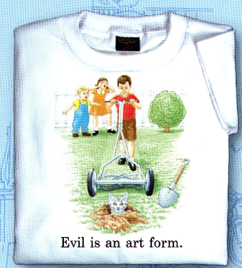 Childhood Evil is an Art Form White Tshirt