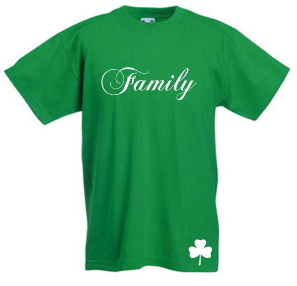 "Bishop Elite ""Family"" Tshirt: Kelly Green With White Print - TshirtNow.net"