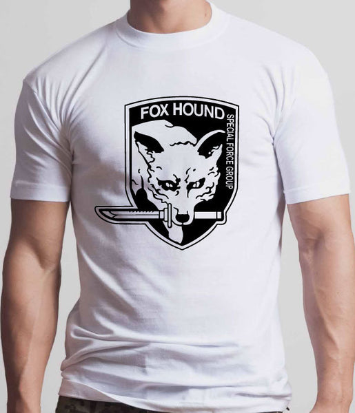 Metal Gear Solid Fox Hound Special Force Group Tshirt:White With Black Print - TshirtNow.net - 1