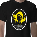 Metal Gear Solid Fox Hound Special Force Group Tshirt: Black With Yellow and White Print - TshirtNow.net - 1