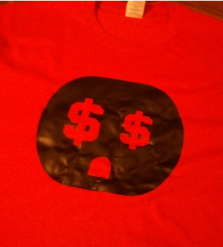 "The Connect ""Money Plug"" Tshirt: Red With Black Print - TshirtNow.net"