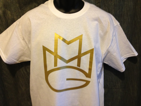 Maybach Music Group Tshirt: White Tshirt with Gold Print - TshirtNow.net - 1