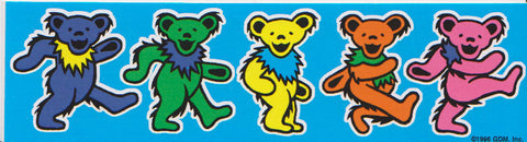 Grateful Dead Dancing Bears Sticker Decal