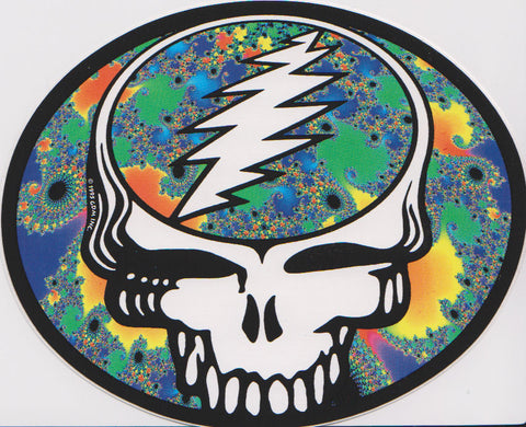 Grateful Dead Fractal Steal Your Face Sticker Decal