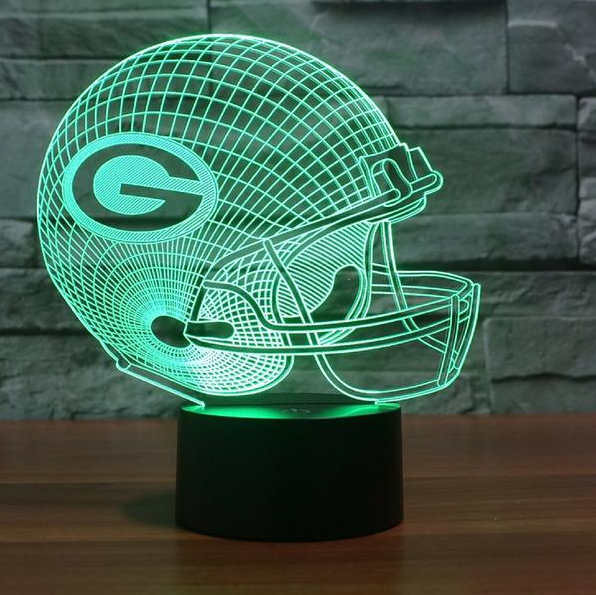 Nfl Green Bay Packers 3d Led Light Lamp Tshirtnow