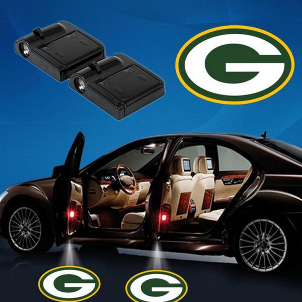 2 NFL GREEN BAY PACKERS WIRELESS LED CAR DOOR PROJECTORS