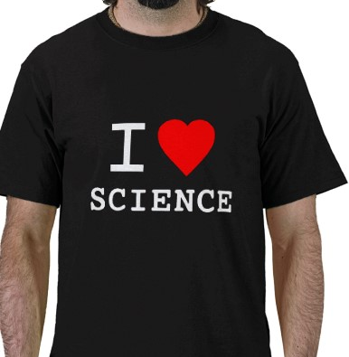 I Love Science Tshirt: Black With Red & White Print - TshirtNow.net - 1