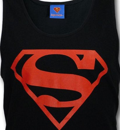 Superboy Classic Logo Symbol Black Men's Tank Top