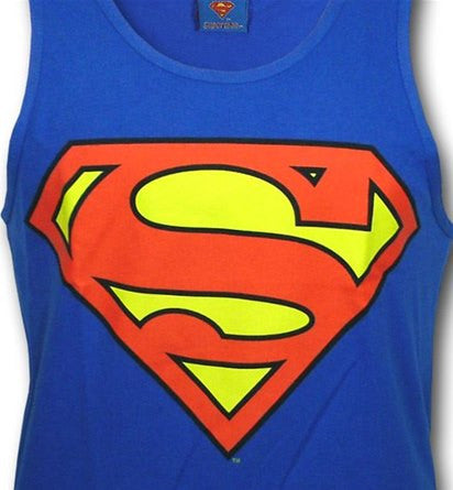 Superman Classic Logo Symbol Royal Blue Men's Tank Top