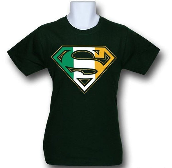 Superman Irish Flag Logo Kelly Green Tshirt - TshirtNow.net - 1