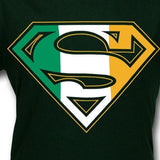 Superman Irish Flag Logo Kelly Green Tshirt - TshirtNow.net - 2