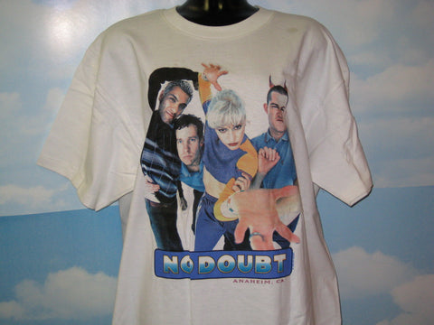 No Doubt Group Photo Adult Natural Size XL Extra Large Tshirt